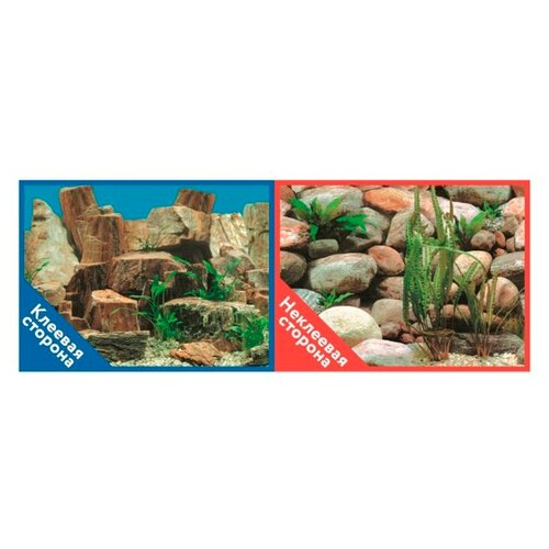 Пленочный фон Prime Каменная терасса/Каменный рельеф двухсторонний 50х100 см