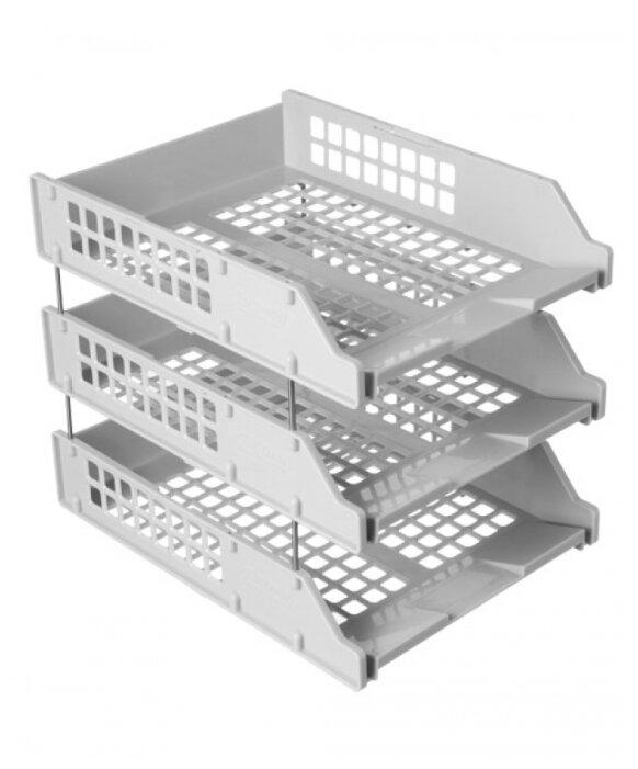 Набор лотков вертикальных для бумаги СТАММ Strong из 3-х горизонтальных лотков