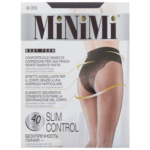 Колготки MiNiMi Slim Control 40 den, размер 1/2-S, fumo (серый) колготки minimi lanacotone 180 den размер 2 s m fumo серый