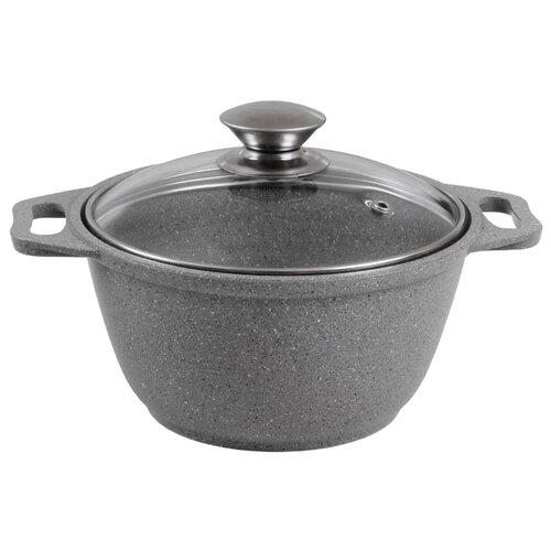 Кастрюля Kukmara Мраморная 20 см 2 л, светлый мрамор сковорода d 24 см kukmara кофейный мрамор смки240а