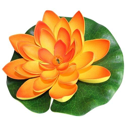 Фигура для водоема Inbloom Лилия декоративная 15 см (171-002) оранжевый