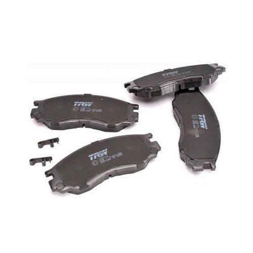 Фото - Дисковые тормозные колодки передние TRW GDB1286 для Mitsubishi Space Gear, Mitsubishi L200, Mitsubishi L400 (4 шт.) дисковые тормозные колодки передние trw gdb3435 для mitsubishi pajero sport mitsubishi montero mitsubishi l200 4 шт