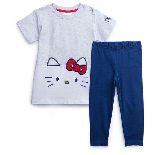 Комплект одежды playToday размер 74, темно-синий/светло-серый комплект одежды playtoday размер 74 темно синий серый