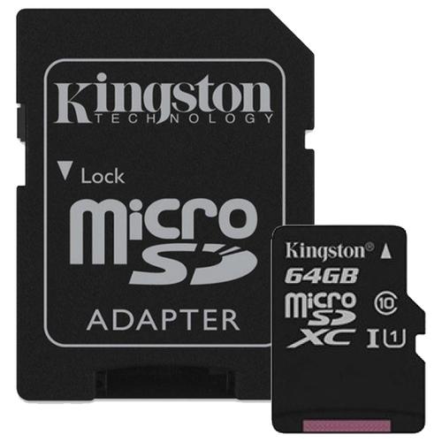 Фото - Карта памяти Kingston Canvas Select microSDXC Class 10 UHS-I U1 64GB + SD adapter (SDCS/64GB) карта памяти kingston canvas select microsdxc uhs i 64gb class 10 с адаптером