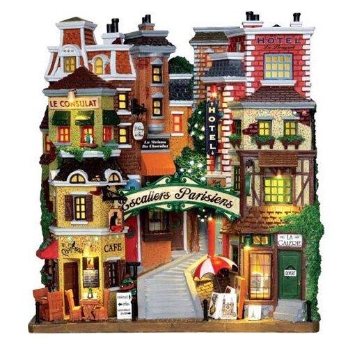 фигурка lemax платформа с рождественскими игрушками 10 4 x 18 x 10 см красный зеленый Фигурка LEMAX фасад Парижские ступени 27 х 24 х 10 см бежевый/красный/зеленый