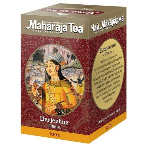 Чай чёрный Maharaja Tea Darjeeling Tiesta индийский байховый, 100 г maharaja tea магури билл чай черный байховый 100 г