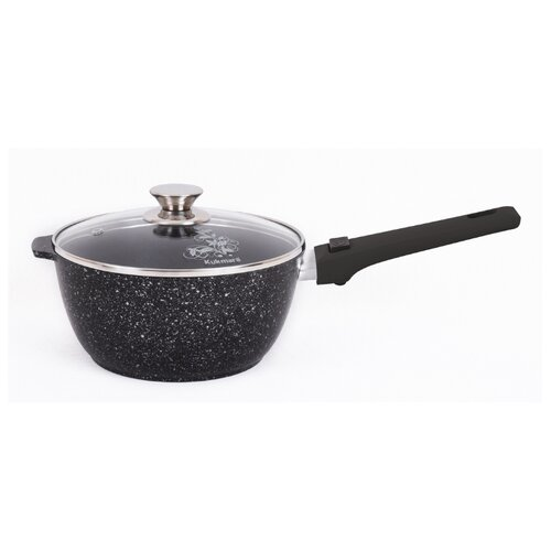 Ковш Kukmara кмт0225а 2,2 л, темный мрамор сковорода d 24 см kukmara кофейный мрамор смки240а
