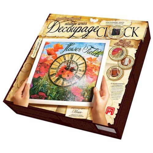 Купить Danko Toys Набор для творчества Decoupage Clock. Часы Flower Fields DKC0104, Наборы для декупажа