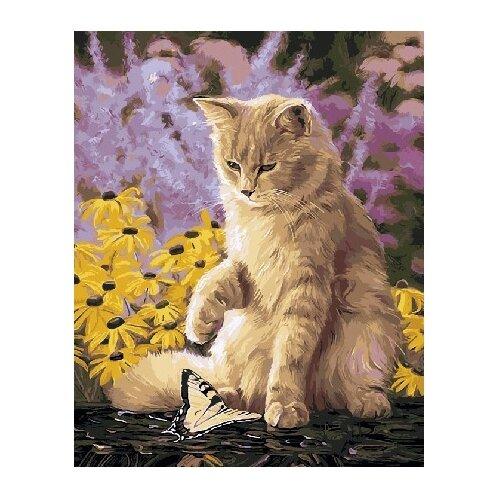Фото - ВанГогВоМне Картина по номерам Ленивый кот, 40х50 см (ZX 21475) картина по номерам 30 x 40 см krym fn11