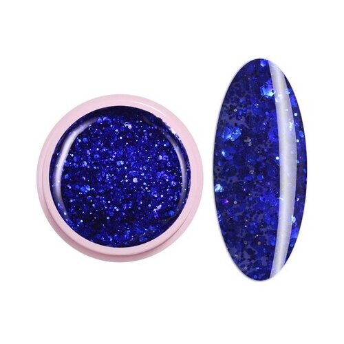 Краска ICE NOVA Glitter Gel 72 ультрамарин