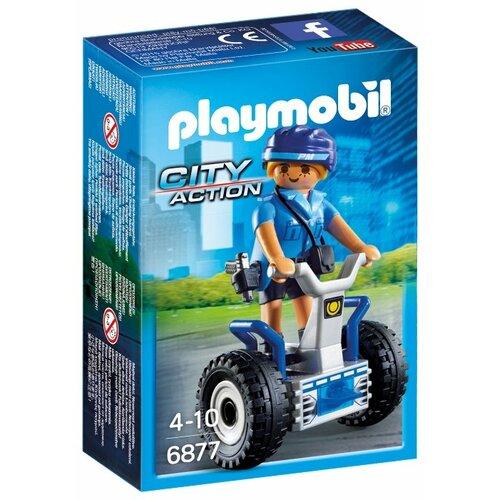 Набор с элементами конструктора Playmobil City Action 6877 Полицейский на сегвее