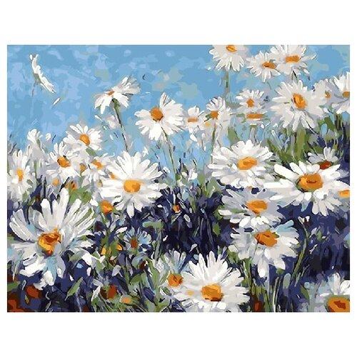 Купить ВанГогВоМне Картина по номерам Ромашки на лугу , 40х50 см (ZX 21525), Картины по номерам и контурам
