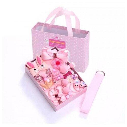 Купить Детский набор заколок для волос Happy every day 18A розовый, Happy EveryDay