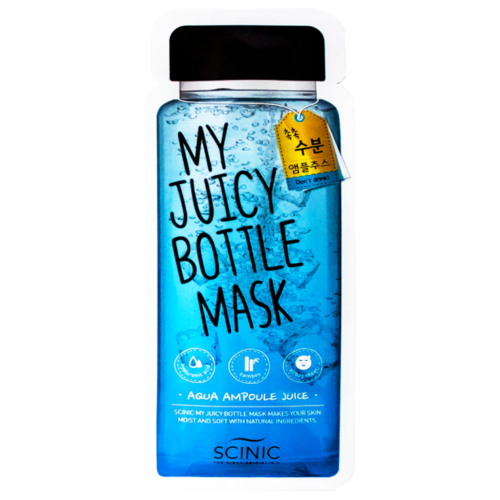 Scinic Увлажняющая маска для лица My Juicy Bottle Mask Aqua ampoule juice, 20 мл
