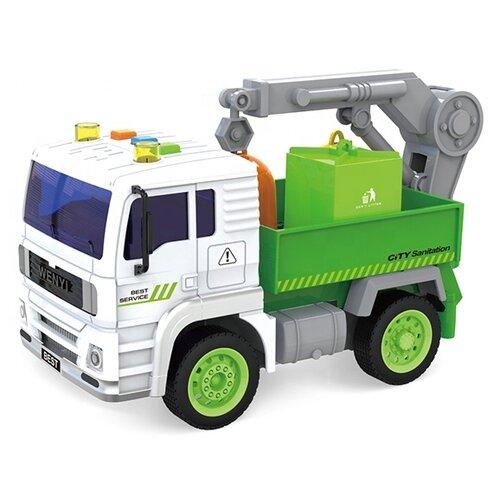 Купить Мусоровоз ABtoys WY521C 1:20 зеленый, Машинки и техника