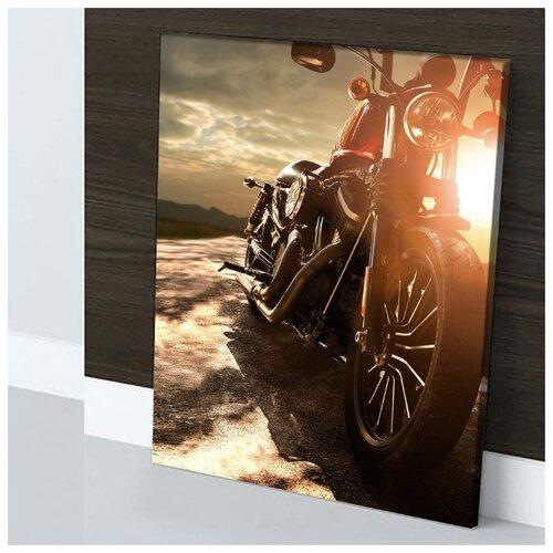 Картина Мотобайк 40х60 см. натуральный холст