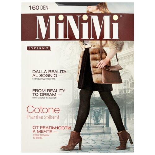 Леггинсы MiNiMi Pantacollant Cotone 160 den, размер 2-S/M, nero (черный) колготки minimi cotone 250 den размер 2 s m nero черный