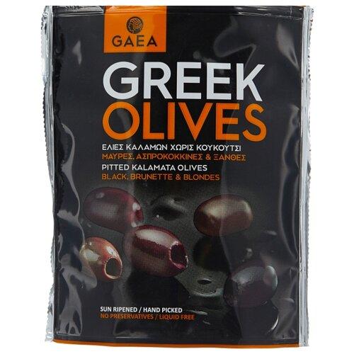 Gaea Оливки Каламата в маринаде без косточки, пластиковый пакет 150 г gaea оливки зеленые с миндалем 295 г