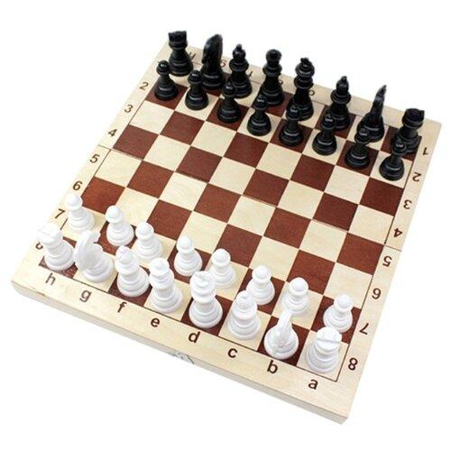 Настольная игра Шахматы пластмассовые 29х29см в дер.уп