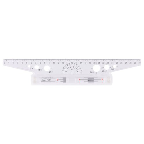 Купить ArtSpace Рейсшина 30 см (РМ_32410) прозрачный, Чертежные инструменты