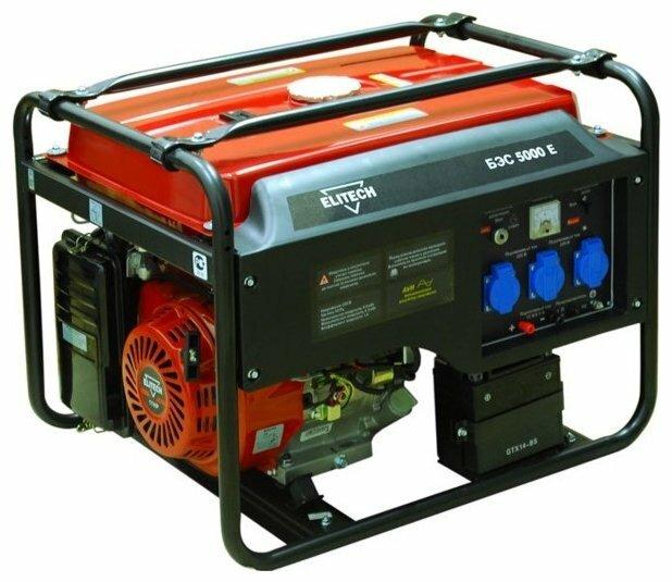Бензиновый генератор ELITECH БЭС 5000 Е (4000 Вт)