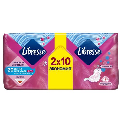 Купить Libresse прокладки Ultra Normal Deo с мягкой поверхностью 20 шт.