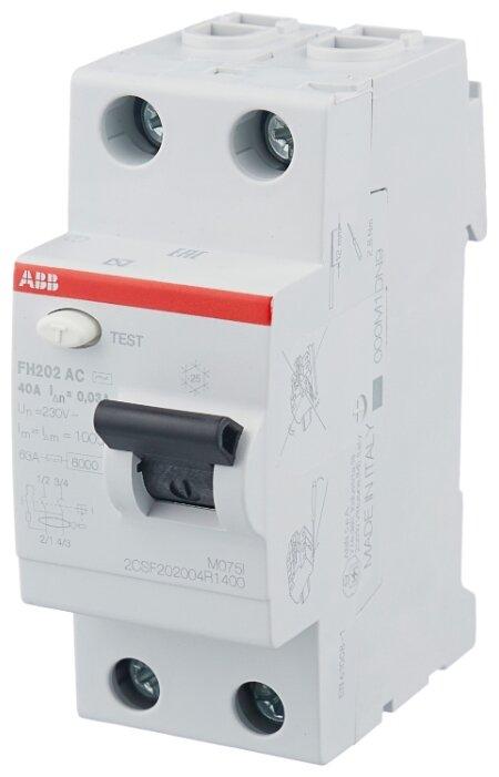 УЗО ABB 30мА тип AC FH202 (2CSF202004R1400) 2 полюса
