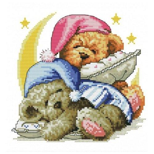 Купить Набор Два медвежонка вышивка крестом 30х30 Белоснежка 776-14, Наборы для вышивания