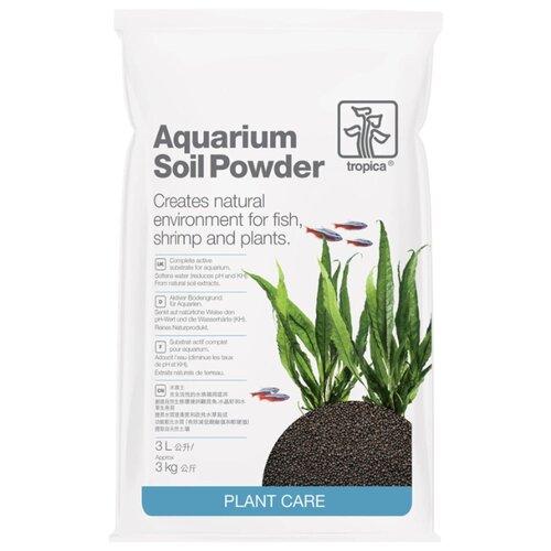 Грунт Tropica Aquarium Soil Powder 3 л, 3 кг черный