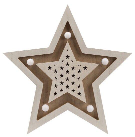 Фигурка NEON-NIGHT Звезда двойная 30 см