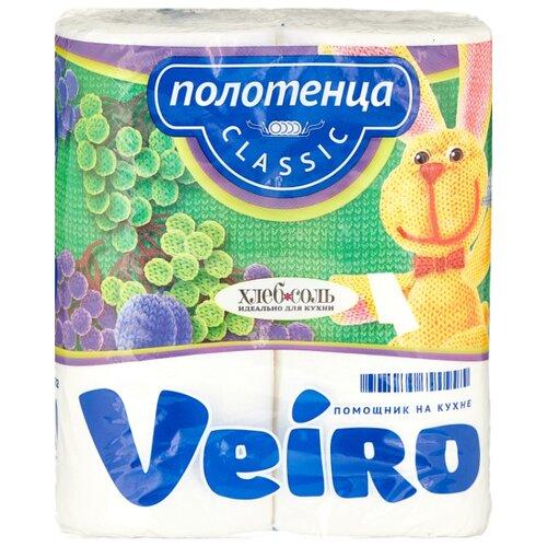 полотенца бумажные veiro classic plus 2 рулона Полотенца бумажные Veiro Classic белые двухслойные 2 рул.