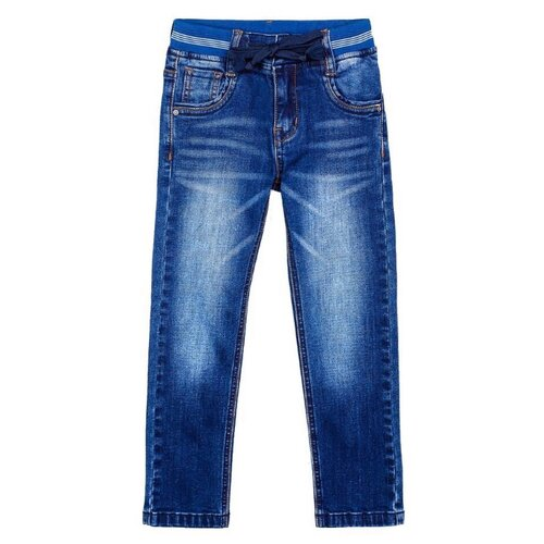 Джинсы playToday размер 110, синий джинсы playtoday playtoday mp002xb00a99