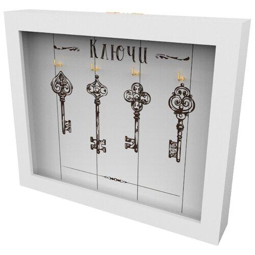 Ключница Дубравия Ключи, 26x22 см белый