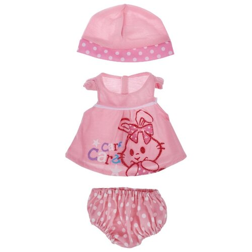 цена Junfa toys Комплект одежды для кукол Baby Love BLC04 розовый онлайн в 2017 году