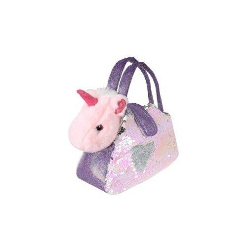цена Мягкая игрушка Fluffy Family Единорог в сумочке с пайетками 18 см онлайн в 2017 году
