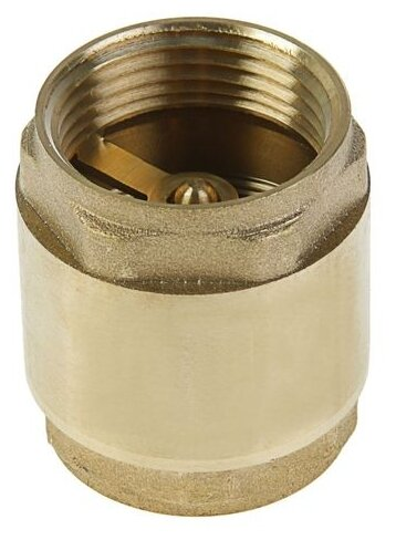 Обратный клапан пружинный Никифоров 8755.3/8755.1a/0755.2 муфтовый (ВР/ВР), латунь