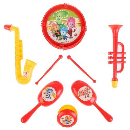 Купить Играем вместе набор инструментов Фиксики B1582336-R1 красный/желтый, Детские музыкальные инструменты