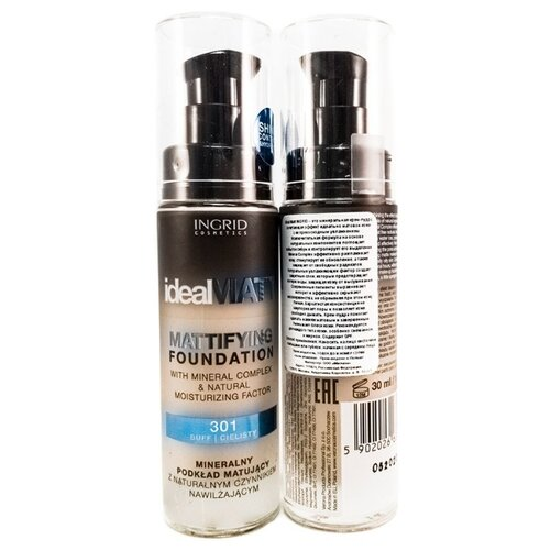 Ingrid Cosmetics Минеральная крем-пудра Ideal Matt 301 тональный крем ingrid mineral matt тон 304 песочный
