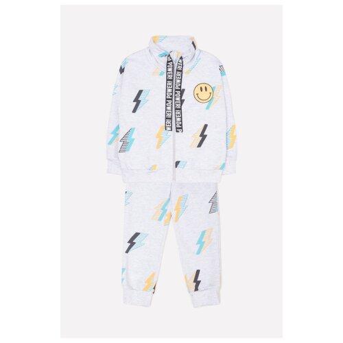 Купить Комплект одежды crockid размер 74, светло-серый меланж, Комплекты