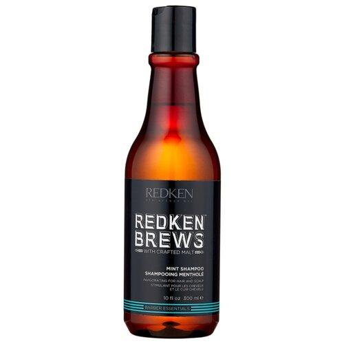 Redken шампунь для мужчин BREWS MINT 300 мл redken brews mint shampoo тонизирующий шампунь 300 мл