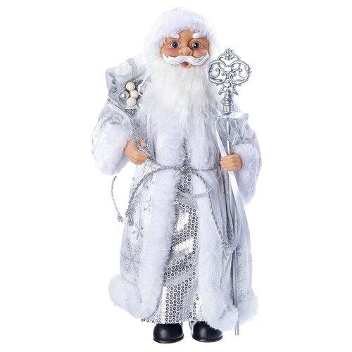 цена на Фигурка SNOWMEN Дед Мороз 36 см (Е96410) серебристый