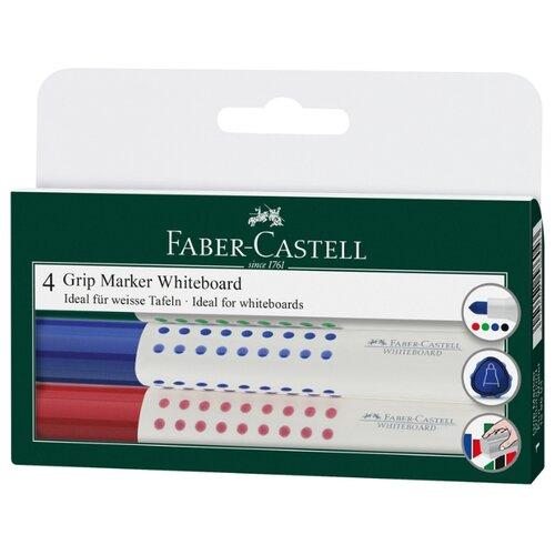 цена на Faber-Castell Набор маркеров для доски Grip marker whiteboard round tip, 4 шт.