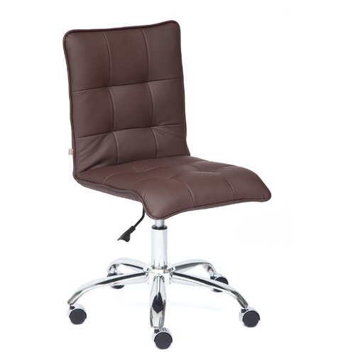 Компьютерное кресло TetChair Zero офисное, обивка: искусственная кожа, цвет: коричневый компьютерное кресло tetchair jazz офисное обивка искусственная кожа цвет бежевый коричневый 4230