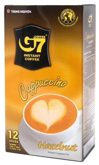 Купить Растворимый кофе Trung Nguyen G7 Cappuccino Hazelnut, в стиках (12 шт.) по низкой цене с доставкой из Яндекс.Маркета (бывший Беру)