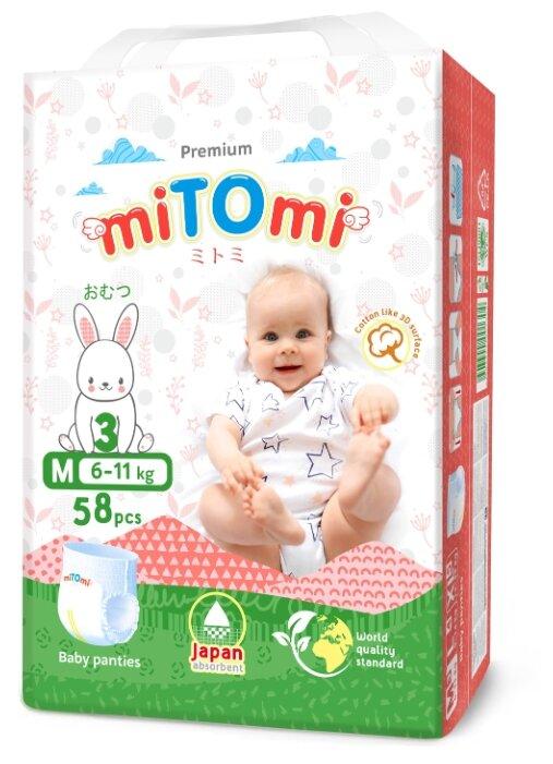MiTOmi трусики M (6-11 кг) 58 шт.
