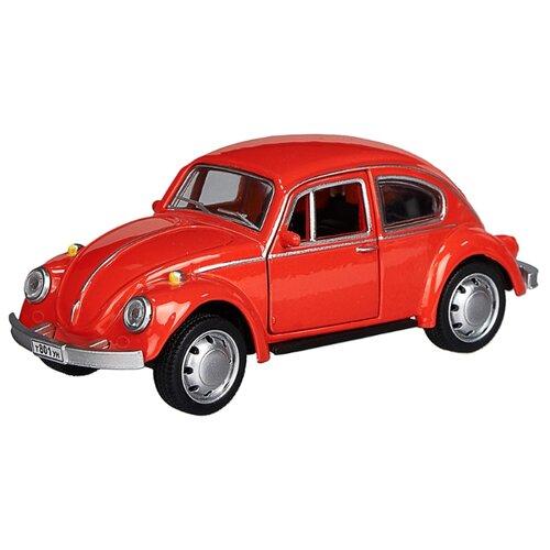 Купить Детская инерционная металлическая машинка с открывающимися дверями PlaySmart, модель Volkswagen beetle, красный, Serinity Toys, Машинки и техника