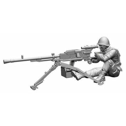 Фото - Сборная модель ZVEZDA Советский крупнокалиберный пулемет НСВ 12,7 мм Утес с расчетом (7411) 1:72 сборная модель zvezda немецкий 81 мм миномет с расчетом 1939 1942 6111 1 72