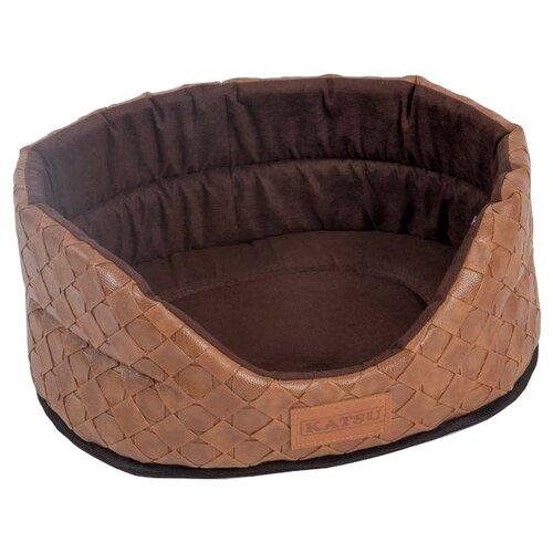 Лежак для собак и кошек Katsu Skaj XS 40х35х16 см коричневый