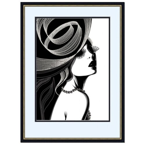 Купить Рисунок-схема на ткани Дама , 29x39 см, Конёк, Наборы для вышивания
