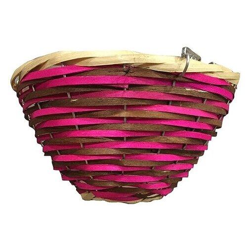 Фото - Кашпо Village people подвесное 74188, d 25 см розовый/коричневый подвесное кашпо с орнаментом 30 см с кокосовой корзиной palisad